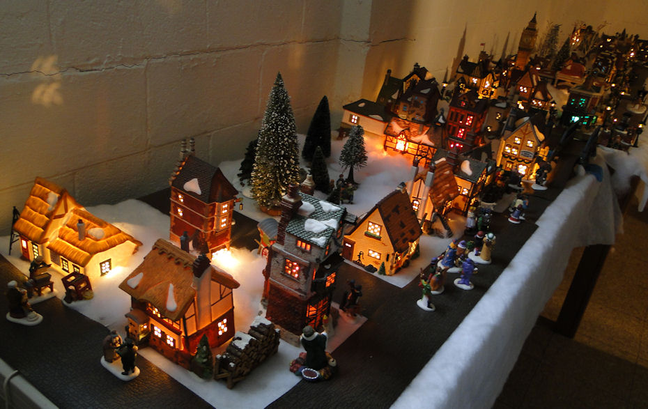 my dept 56 dickens village display for 2011