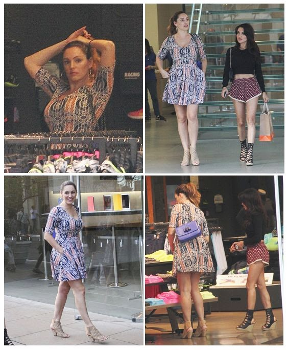 The British beauty shared a bold decision to wear an incredible flirty little dress at Long Angeles on Monday, February 2, 2015