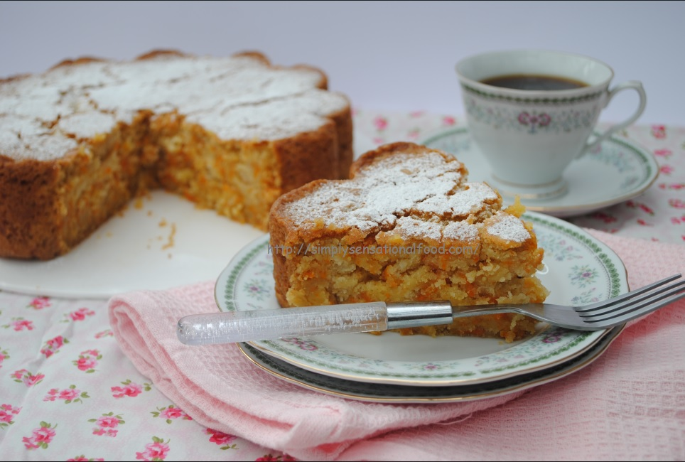 Eggless Carrot Cake Baked In I Heart Cake Silicon Mould