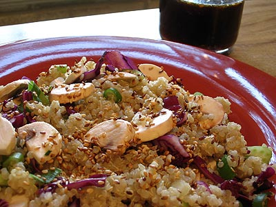 Japanese-Style Quinoa Salad with a Tamari-Ginger Dressing