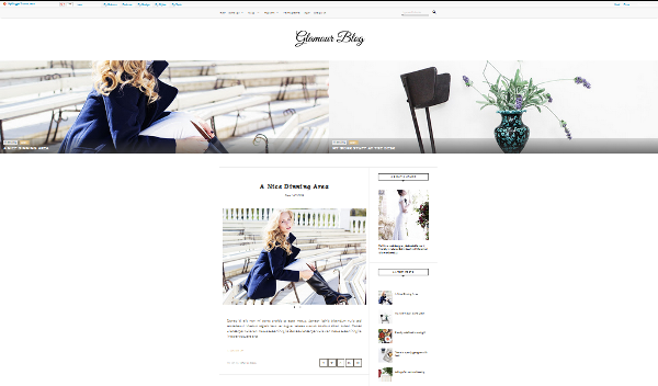 Gloamour Personal, template blog