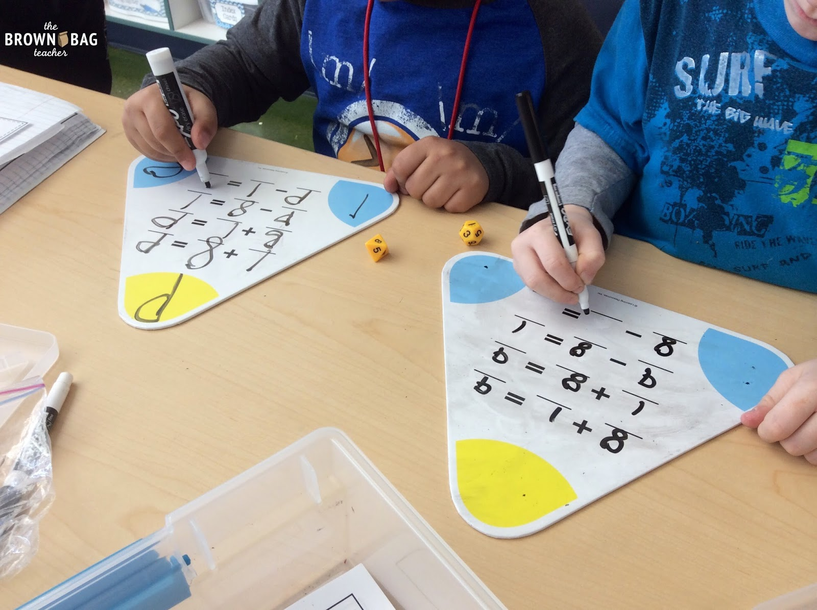 Differentiating Math Centers With Dice The Brown Bag Teacher