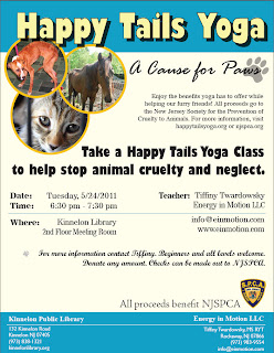 Happy Tails Yoga to Stop Animal Cruelty, Kinnelon Library on 5/24/11