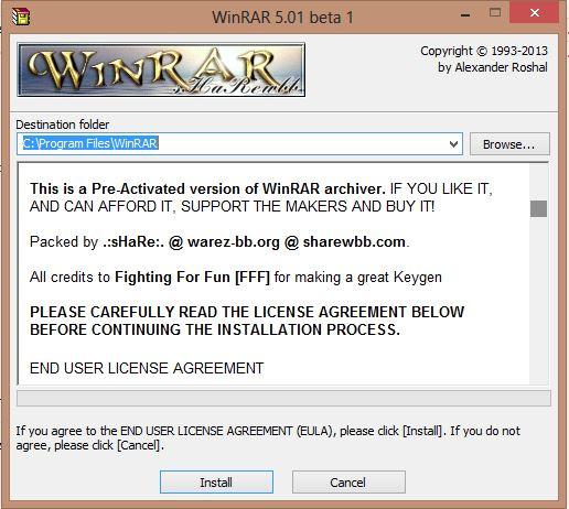 Winrar 5.01 Tr Setup Full İndir