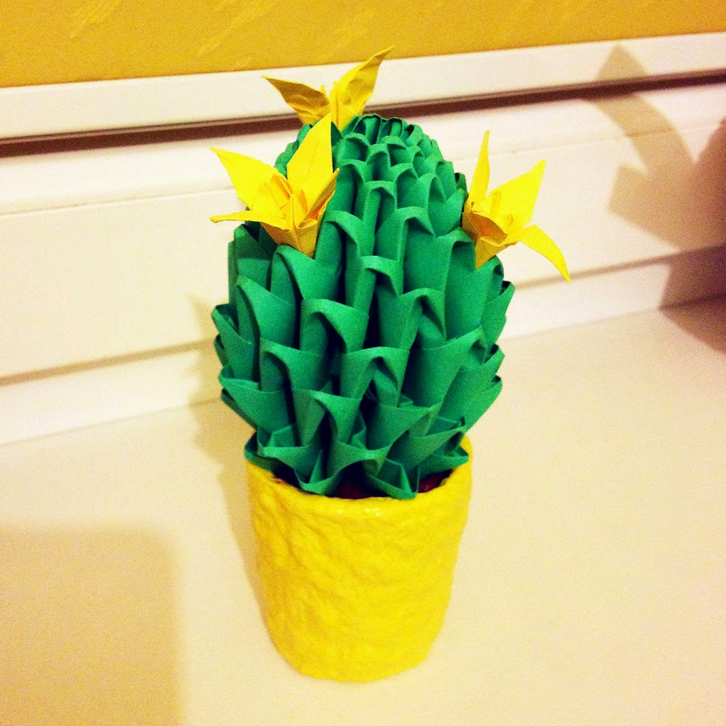 Cactus paper craft ideas creative art and craft ideas for Creative craft ideas with paper