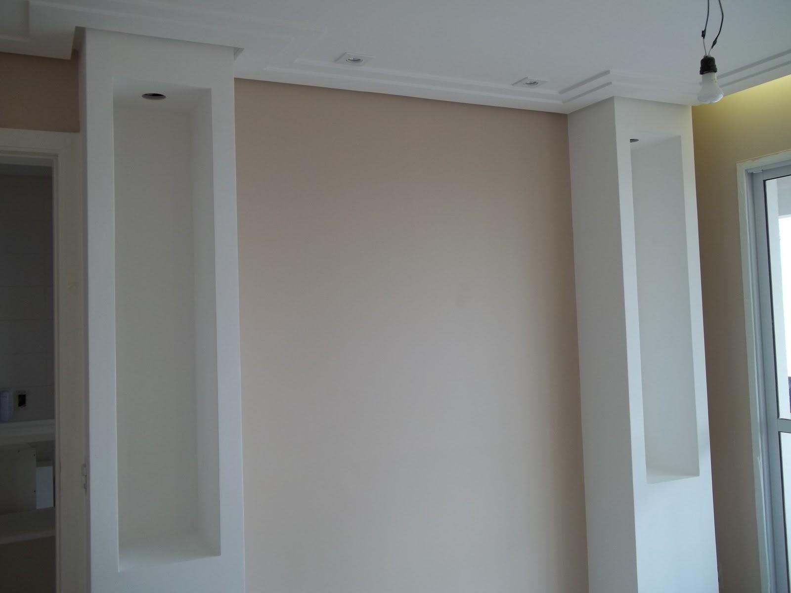Pruzak Com Sala De Tv Com Painel De Gesso Id Ias Interessantes  -> Acabamento Gesso Sala
