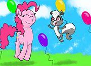 Pepper Clark y Pinkie Pie fiesta Jigsaw