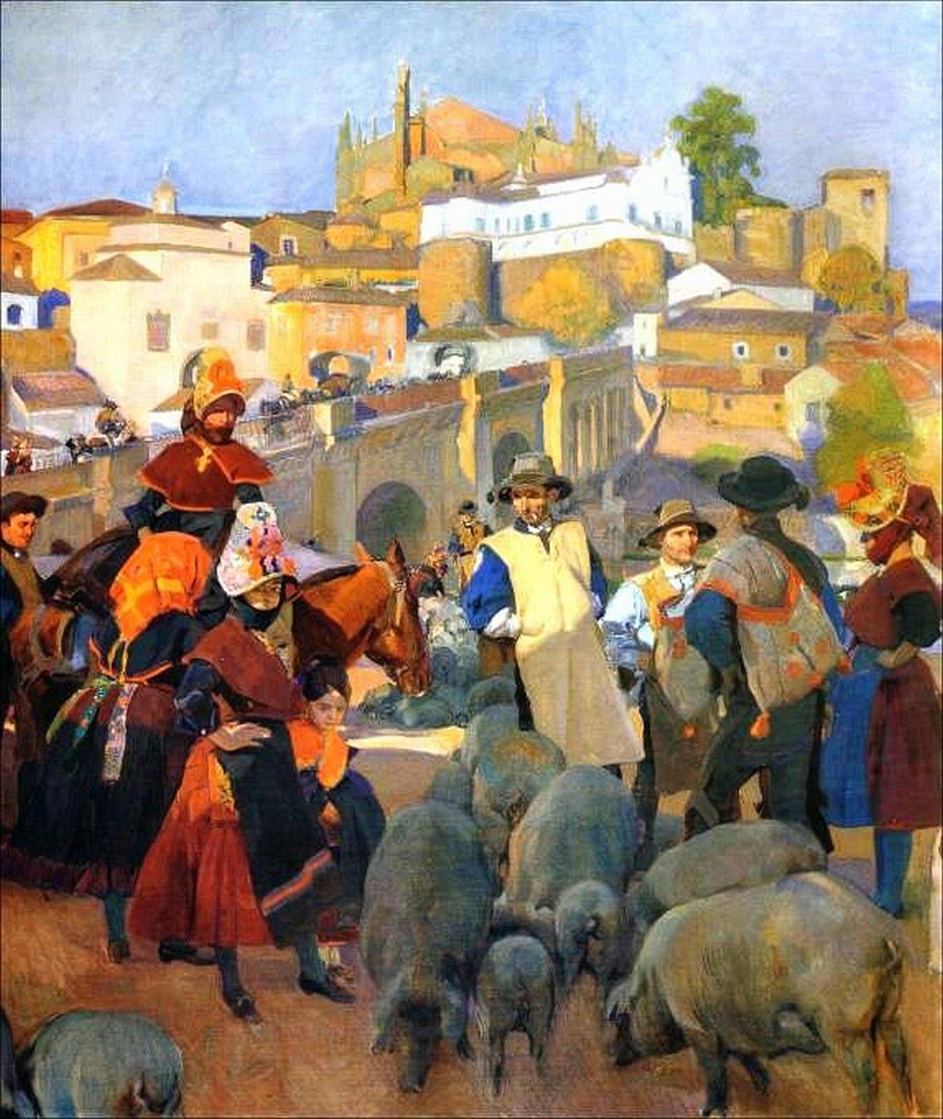 Centenario del cuadro El Mercado de Joaquín Sorolla