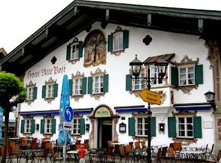 Oberammergau, Бавария, Германия,деревни Германии
