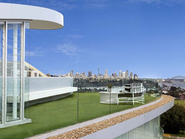 Terrace with Sydney skyline views