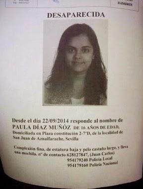 Paula, joven desaparecida de San Juan de Aznalfarache encontrada en granada