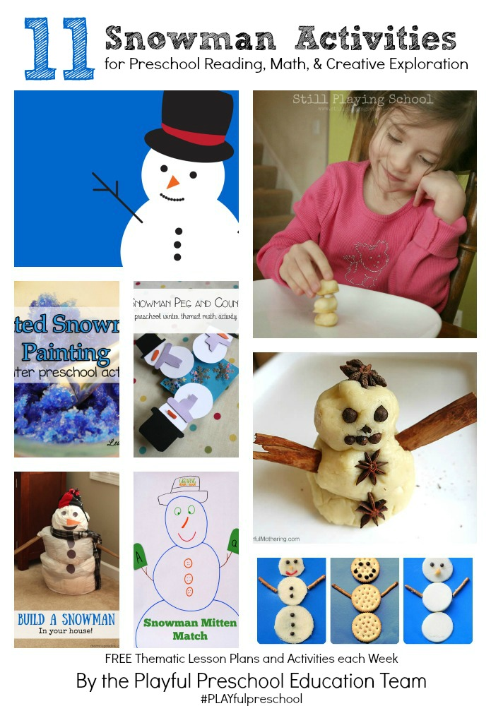 snowman activities for preschool snowman math counting and motor activity 242