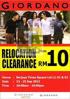 Giordano Relocation Clearance Sale 2013