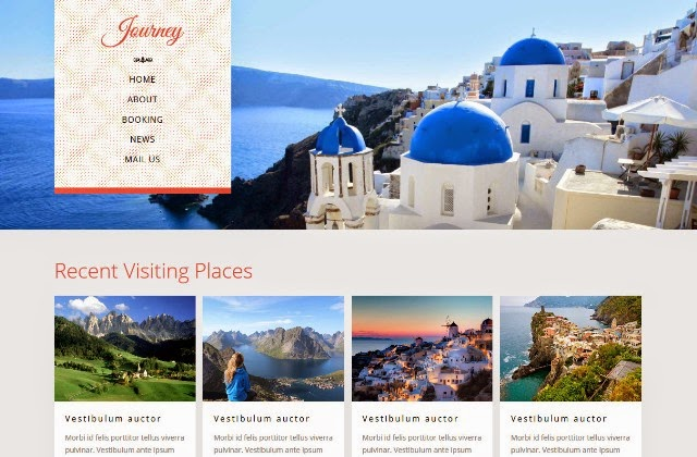 Journey - Responsive Travel Guide Bootstrap web template