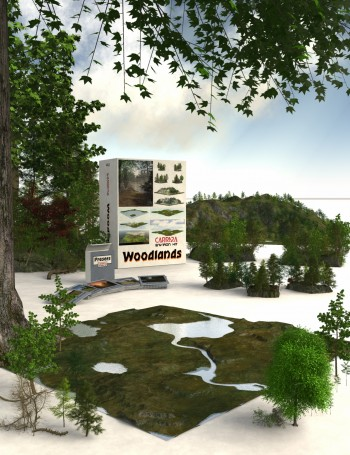 3d Models - Carrara EnvironKit - Woodlands