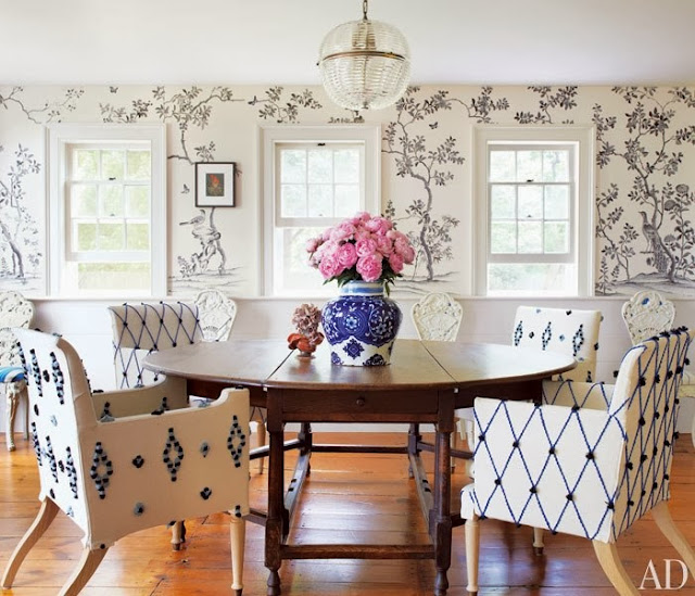 sillones de comedor con textiles en relieve