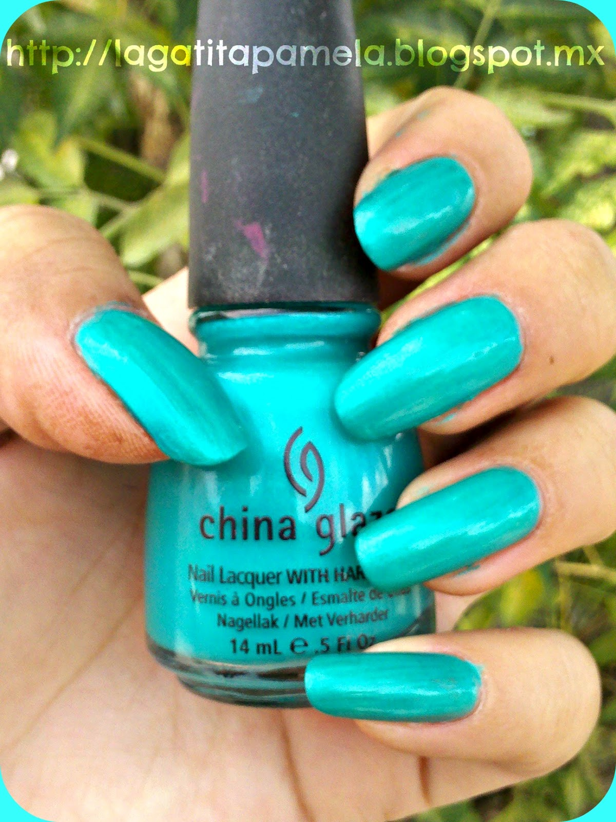 Pamelas Nails China Glaze Turned Up Turquoise Summer Color - Cual-es-el-color-turquesa