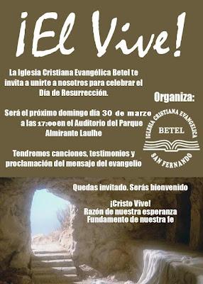 Culto de resurrección en el Parque Almirante Laulhé. 30 de marzo a las 17:00