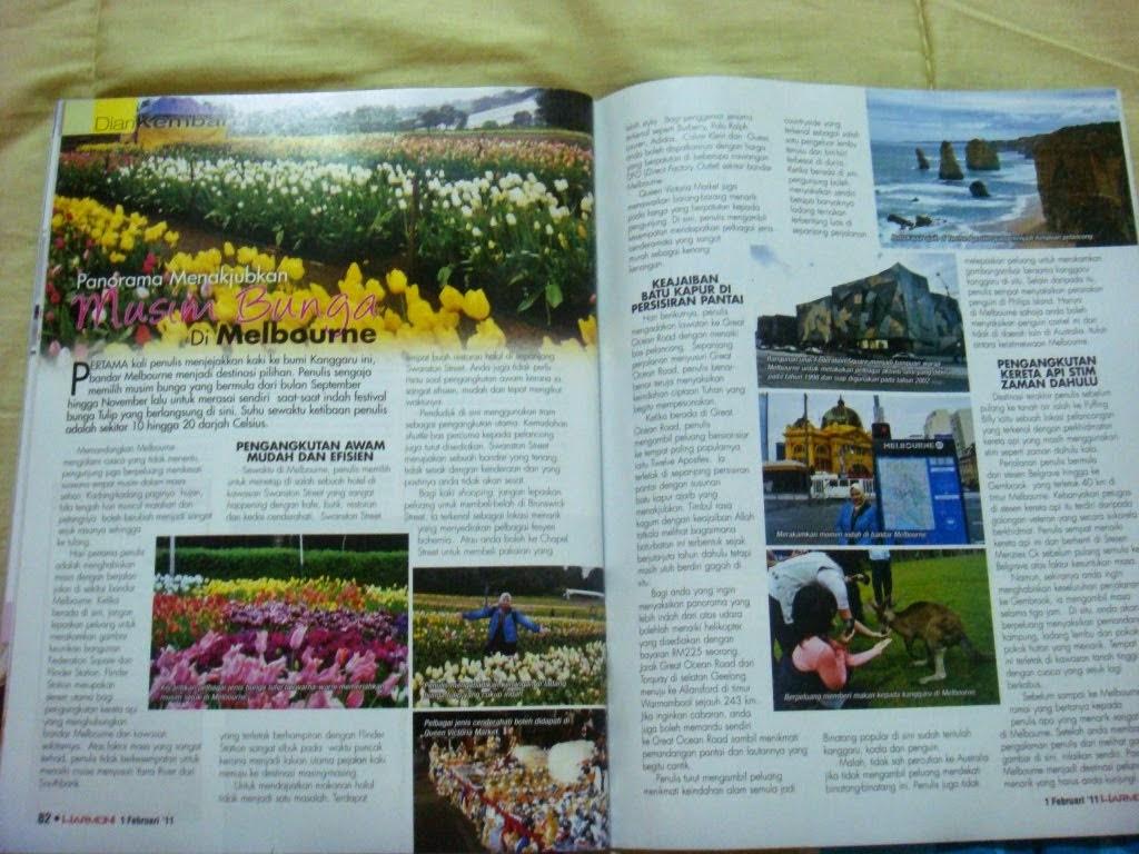 MyTravelog Melbourne - Majalah Harmoni (2011)