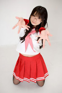 Chocoball Cosplay as Miyuki Takara Seifuku from Lucky Star