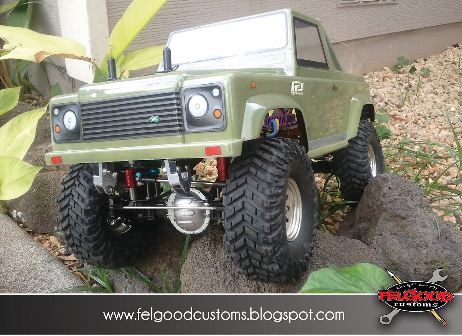 HPI Landrover Defender shell on RC4WD Katan crawler chassis