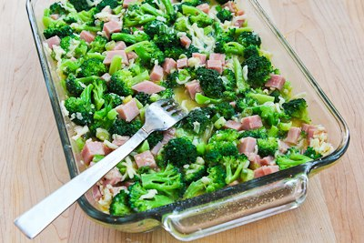 Recipe for Broccoli, Ham, and Mozzarella Baked with Eggs (Low-Carb ...