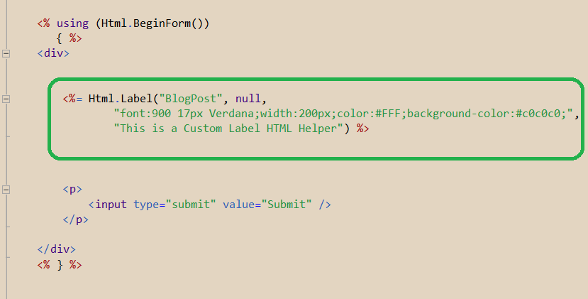asp.net mvc 3 creating custom html helpers Create a custom html helper in aspnet mvc creating a custom html helper when you have a specific use case that isn't covered by the default html helpers.