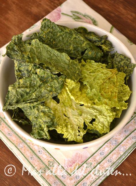 M s all del gluten chips de kale crujientes receta - Cocinar col kale ...