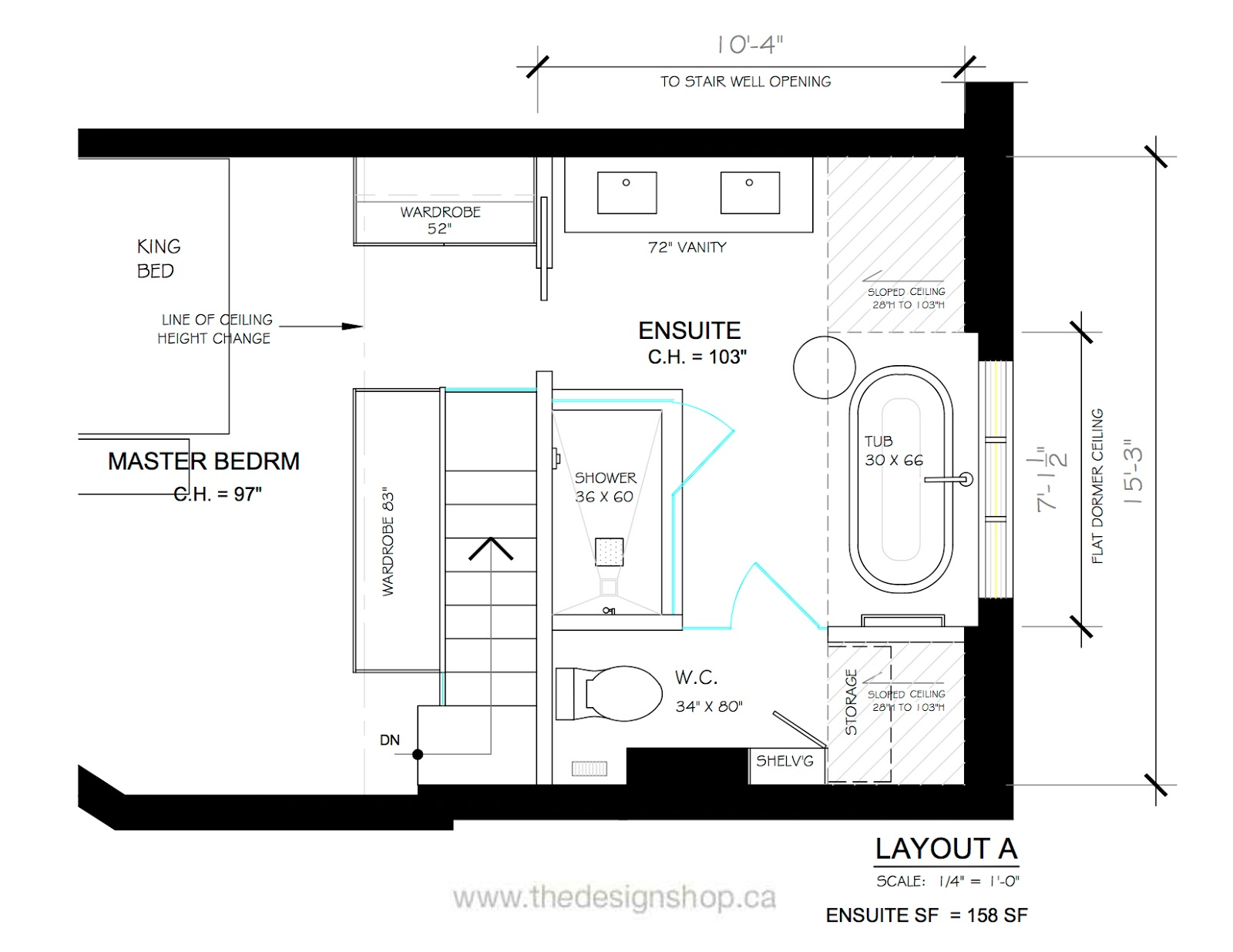 Ensuite Bathroom Floor Plans creed: e-design bathroom: from concept to sneak peek