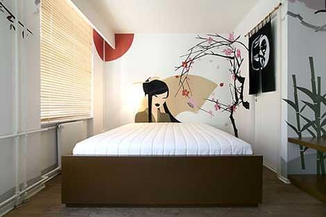 Dise o de camas de estilo minimalista para una habitaci n - Habitaciones estilo japones ...