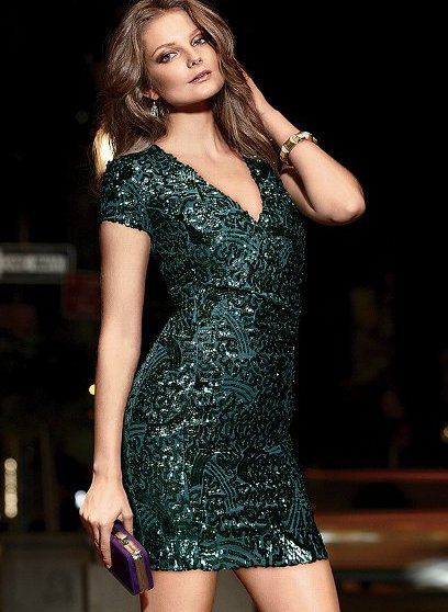Victoria's Secret Sequin V-Neck Dress