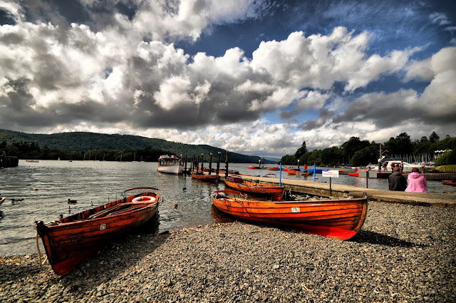 Wooden Boats On The Lake Wallpaper
