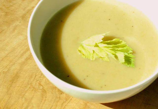 Roasted celery soup