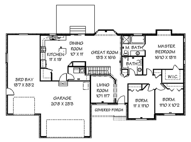 house plans usa - Rectangle House Plans