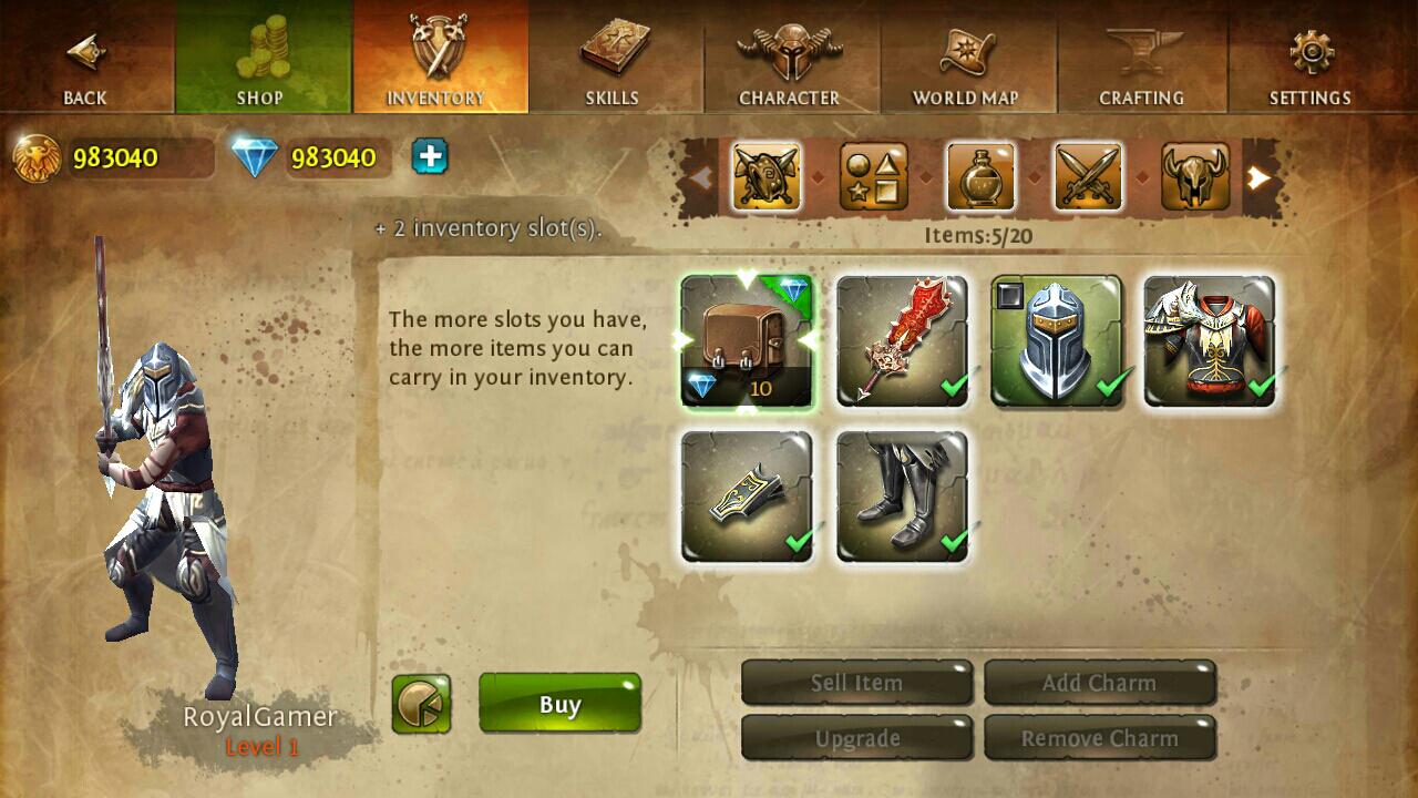 : Hack เงิน เพชร Dungeon Hunter 4 1.2.0 MOD ...