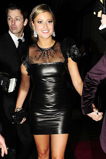 Holly Valance Tight Leather Dress