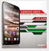 Spesifikasi Lenovo A850