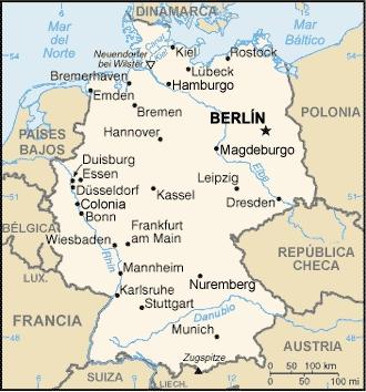 Mapas Del Mundo Mapa De Alemania Y Sus Ciudades