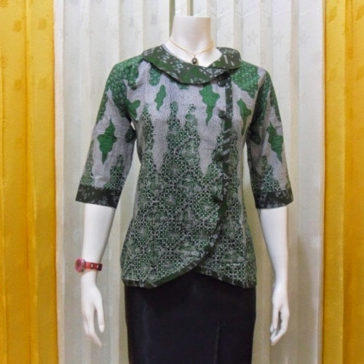 Gambar 11 Model Baju Batik Modern Kombinasi Terbaik 2017