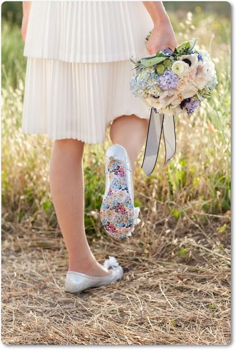 blommig sko