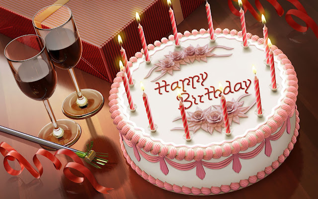 foto verjaardag taart wijn