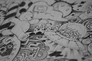 fun doodles notebook illustrations