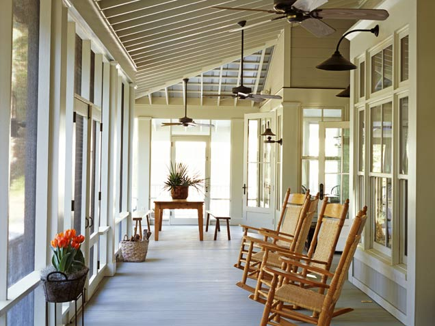 Image detail for enclosed porches or patios porch for Narrow porch decorating ideas