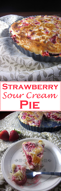 Strawberry Sour Cream Pie