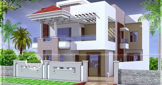 Nice modern house with floor plan kerala home design and for Nice home designs india