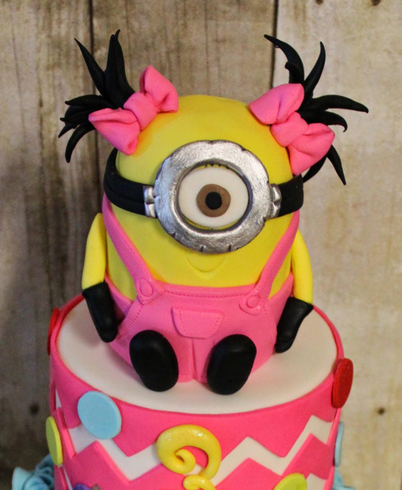 Minnion Inspired birthday cake