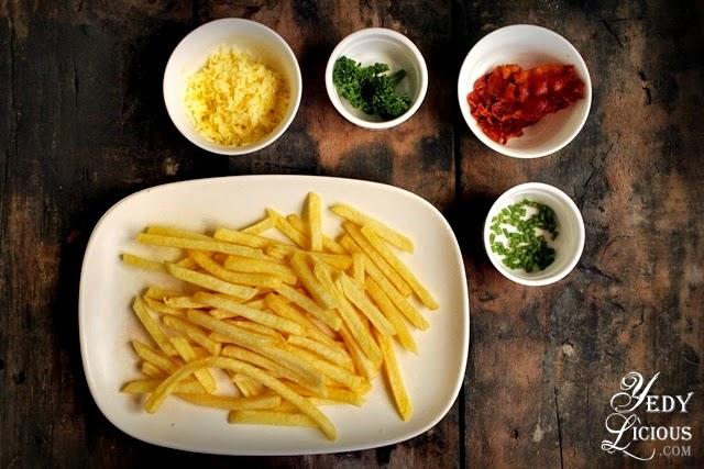 Ingredients for US Frozen Potato Easy Cheesy Fries Platter Recipe