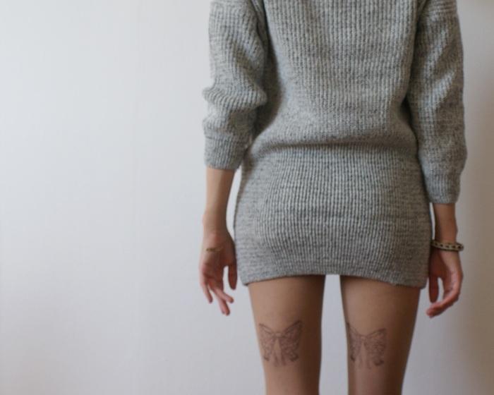 printed tights bows fiocchi collant