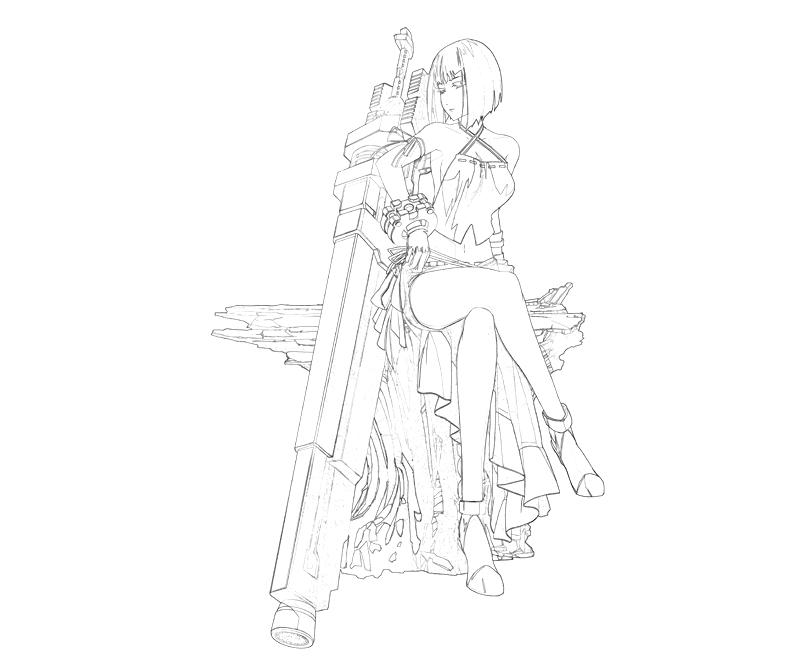 printable-gods-eater-brust-sakuya-weapon-coloring-pages