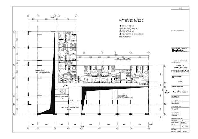 Mặt bằng tầng 2 tòa C dự án Valencia Garden